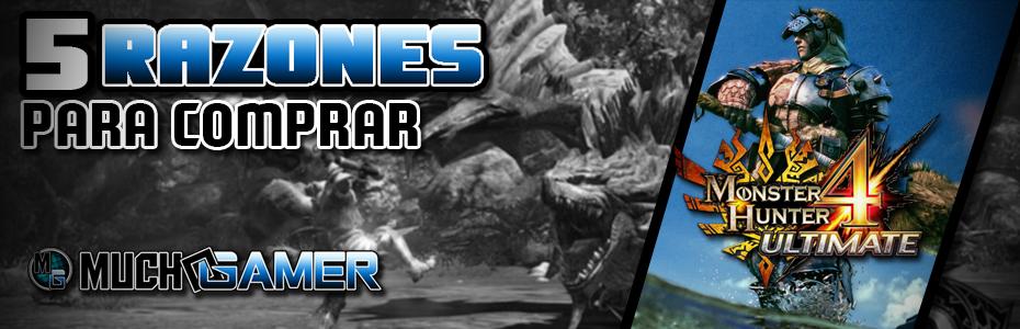 5 razones por las que comprar Monster Hunter 4 Ultimate