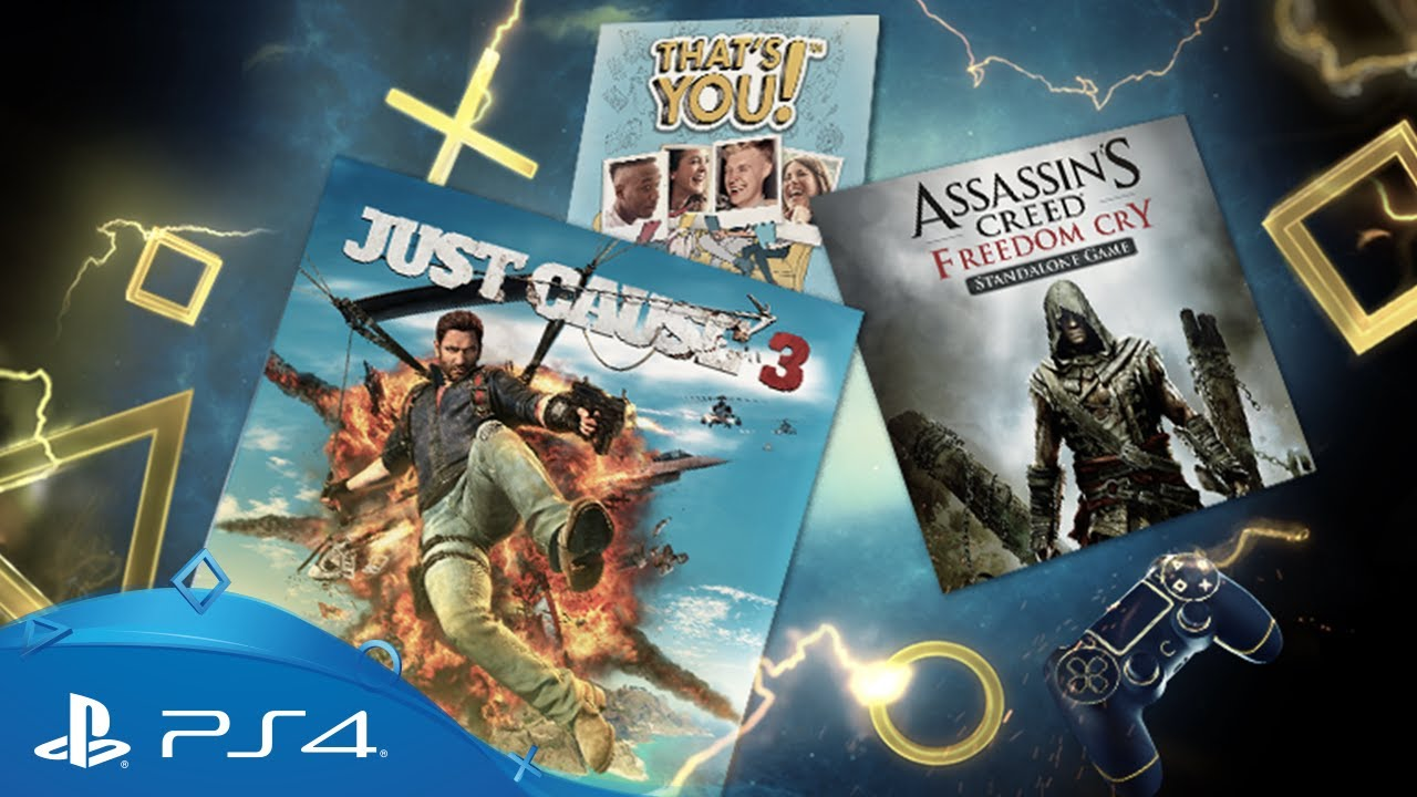 Just Cause 3 y Assassin´s Creed: Freedom Cry entre los juegos de PS Plus de agosto